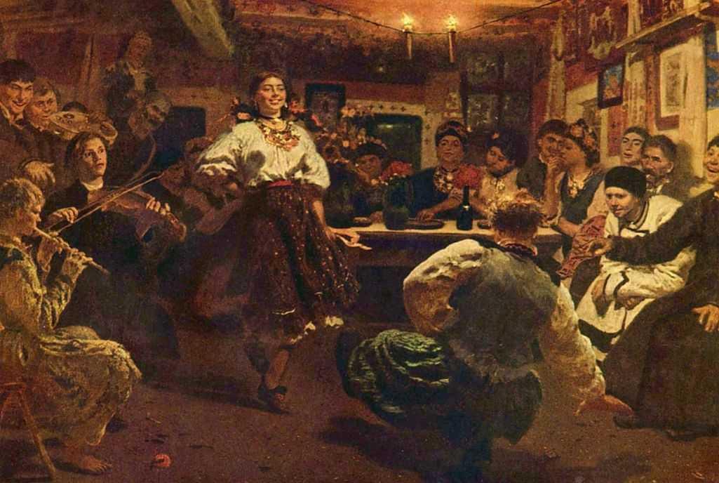Вечеринка — Репин Илья Ефимович