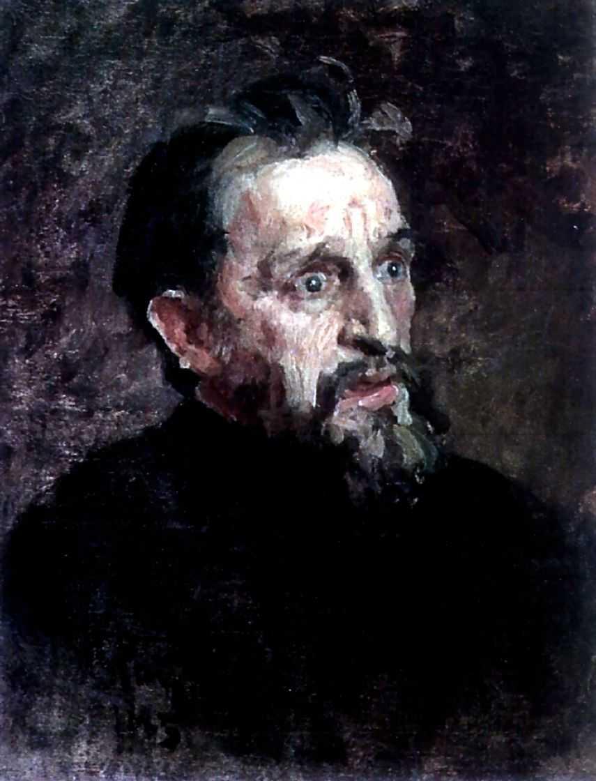 Голова мужчины. Этюд — Репин Илья Ефимович
