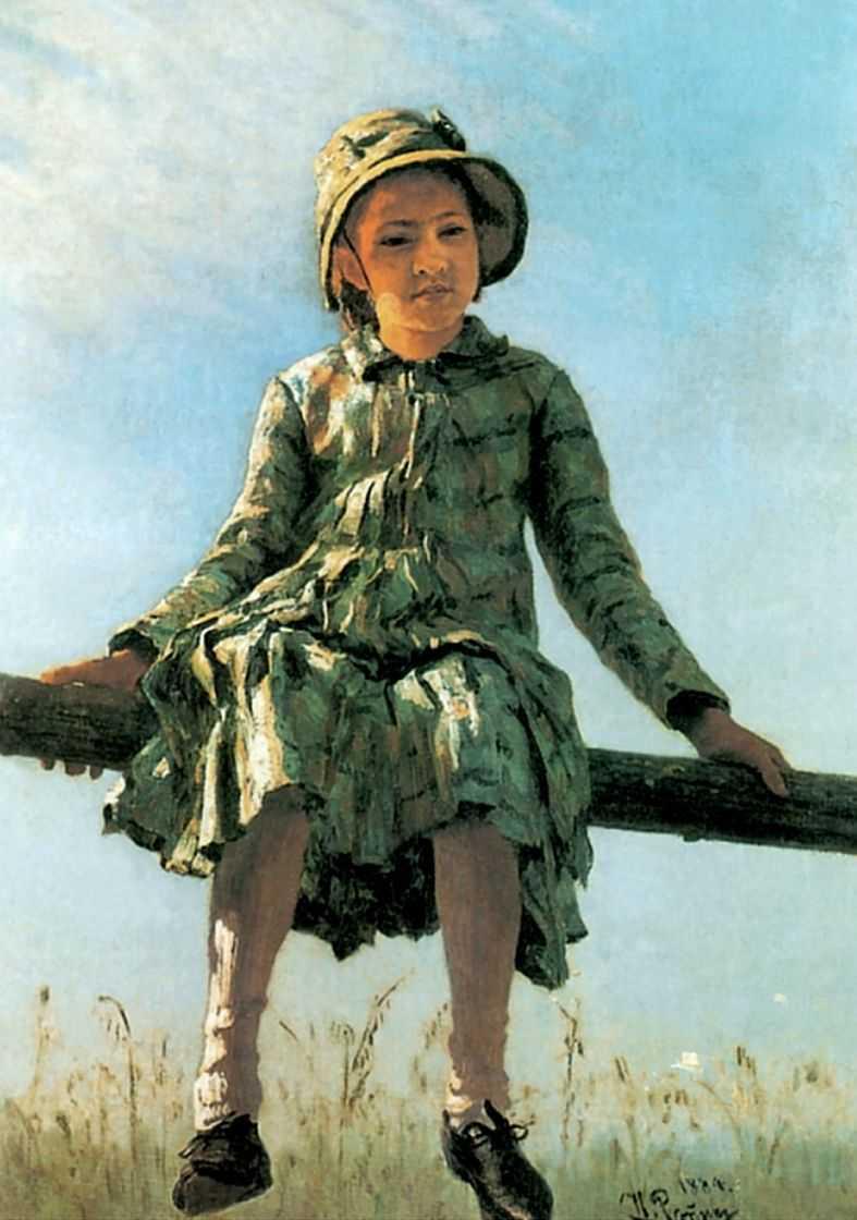 «Стрекоза». Портрет Веры Ильиничны Репиной, дочери художника — Репин Илья Ефимович