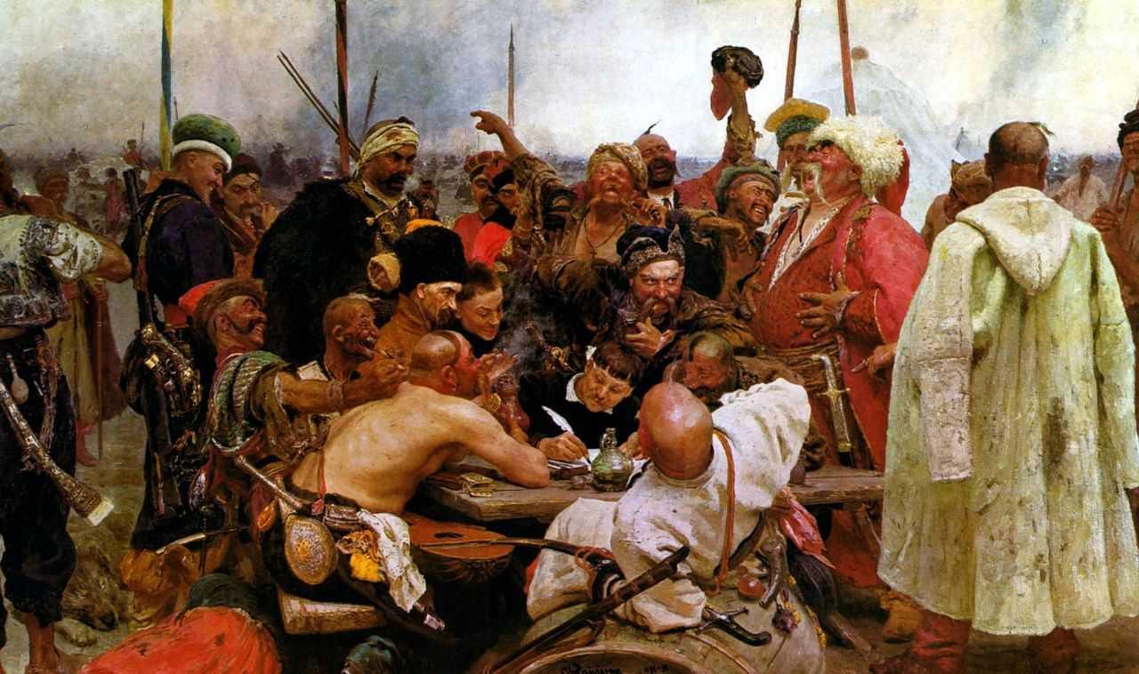 Запорожцы пишут письмо турецкому султану — Репин Илья Ефимович