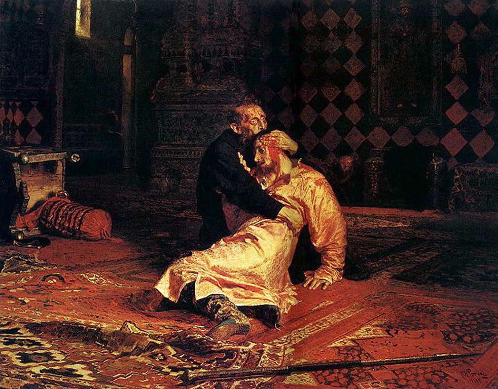 Иван Грозный и сын его Иван 16 ноября 1581 года — Репин Илья Ефимович