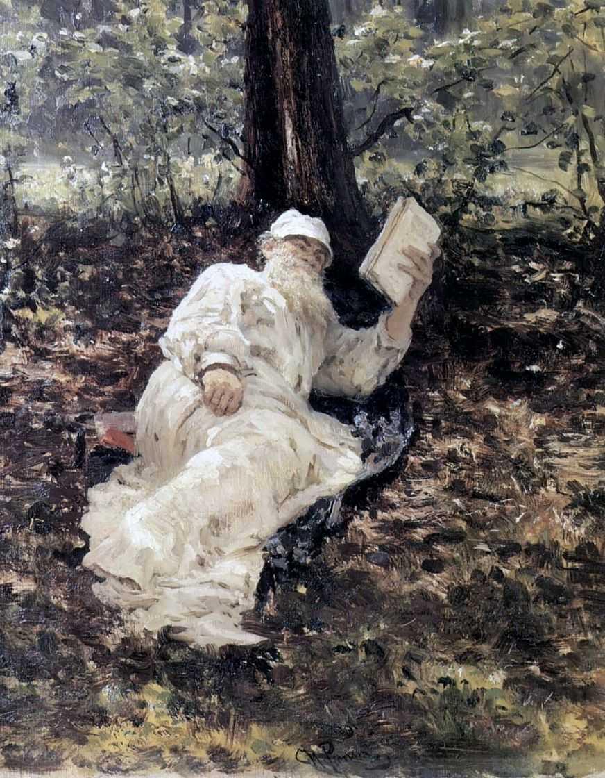 Лев Николаевич Толстой в лесу — Репин Илья Ефимович