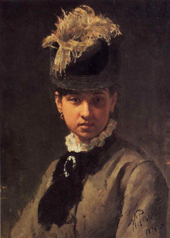 Портрет В.А.Репиной, жены художника — Репин Илья Ефимович