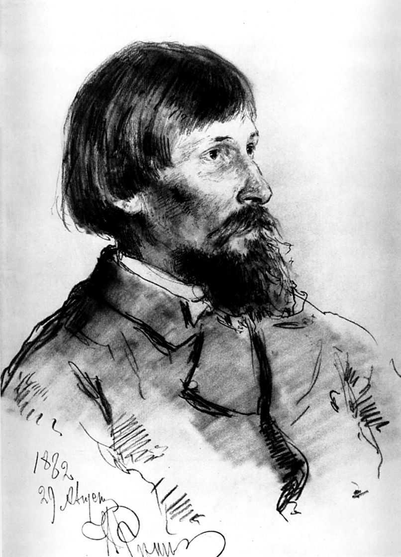 Портрет Виктора Васнецова — Репин Илья Ефимович