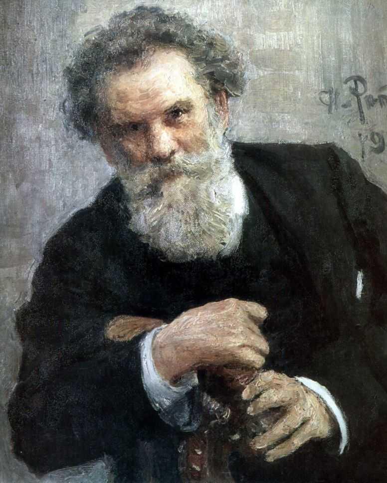 Портрет Владимира Короленко — Репин Илья Ефимович