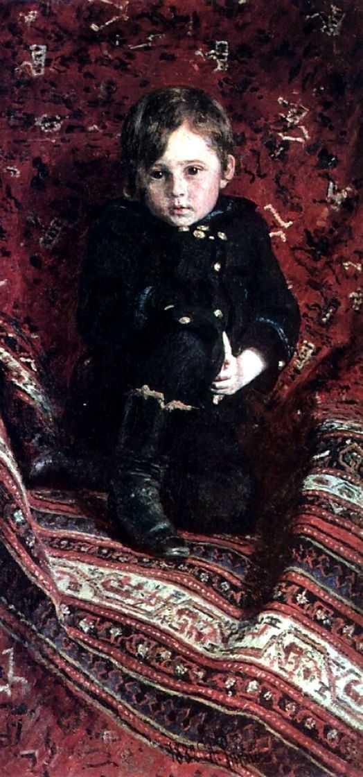 Портрет Юрия Репина, сына художника, в детстве — Репин Илья Ефимович