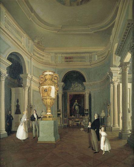 Овальный зал Старого Эрмитажа — Беггров Карл Петрович