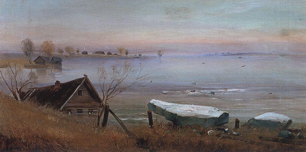 Весна. На большой реке — Саврасов Алексей Кондратьевич