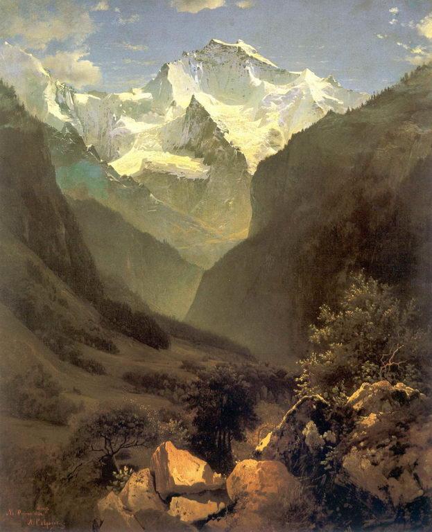 Вид в Швейцарских Альпах из Интерлакена — Саврасов Алексей Кондратьевич