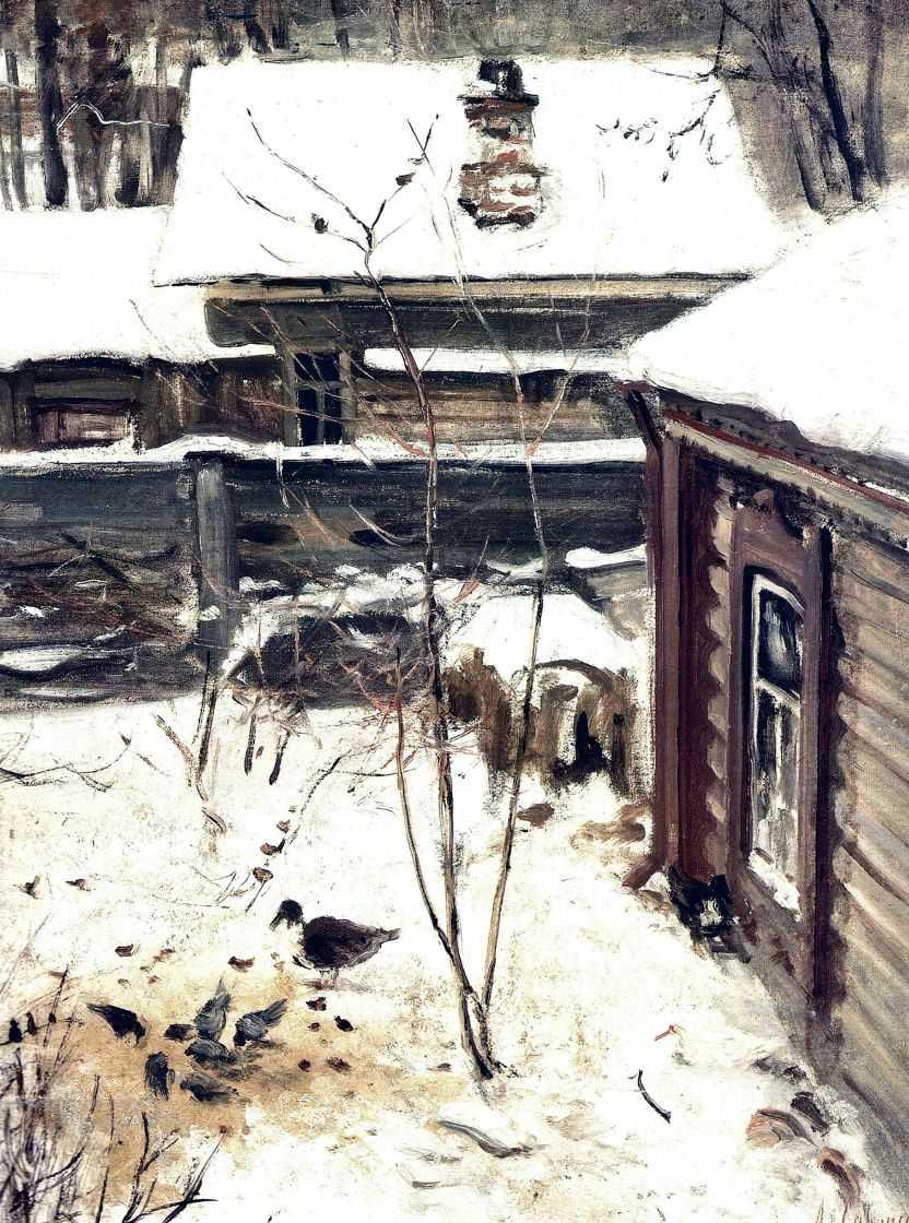 Дворик. Зима — Саврасов Алексей Кондратьевич