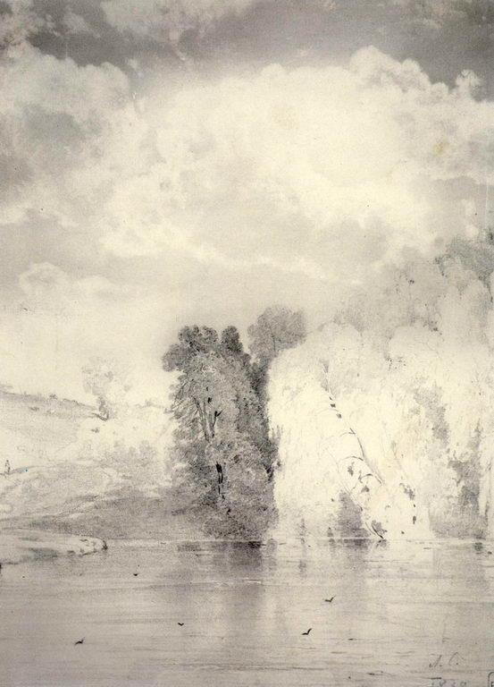 Деревья у озера — Саврасов Алексей Кондратьевич