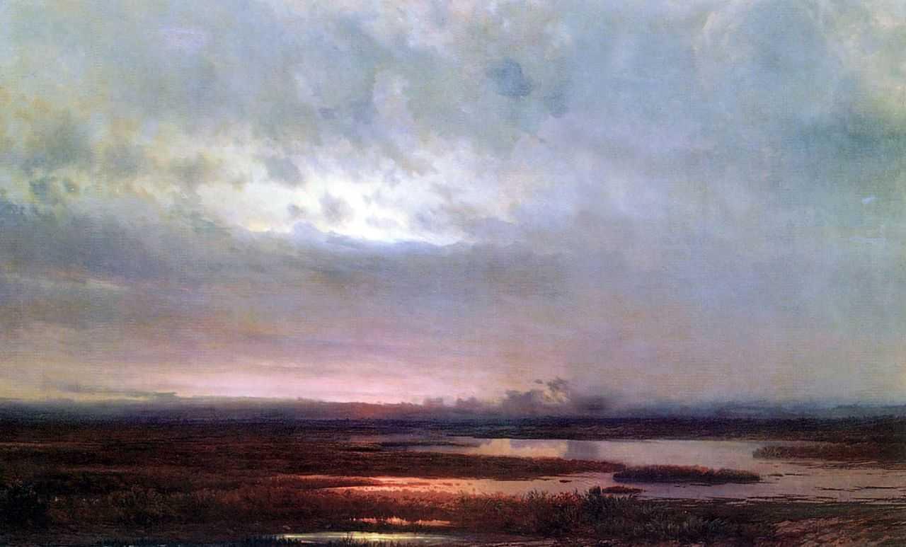 Закат над болотом — Саврасов Алексей Кондратьевич