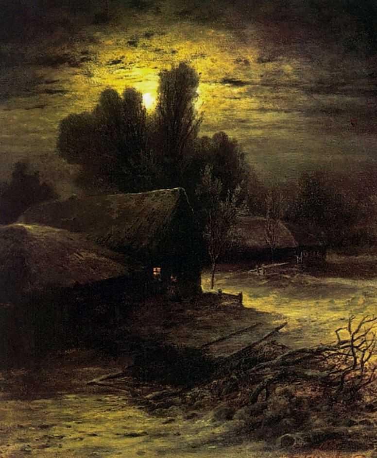 Зимняя ночь — Саврасов Алексей Кондратьевич