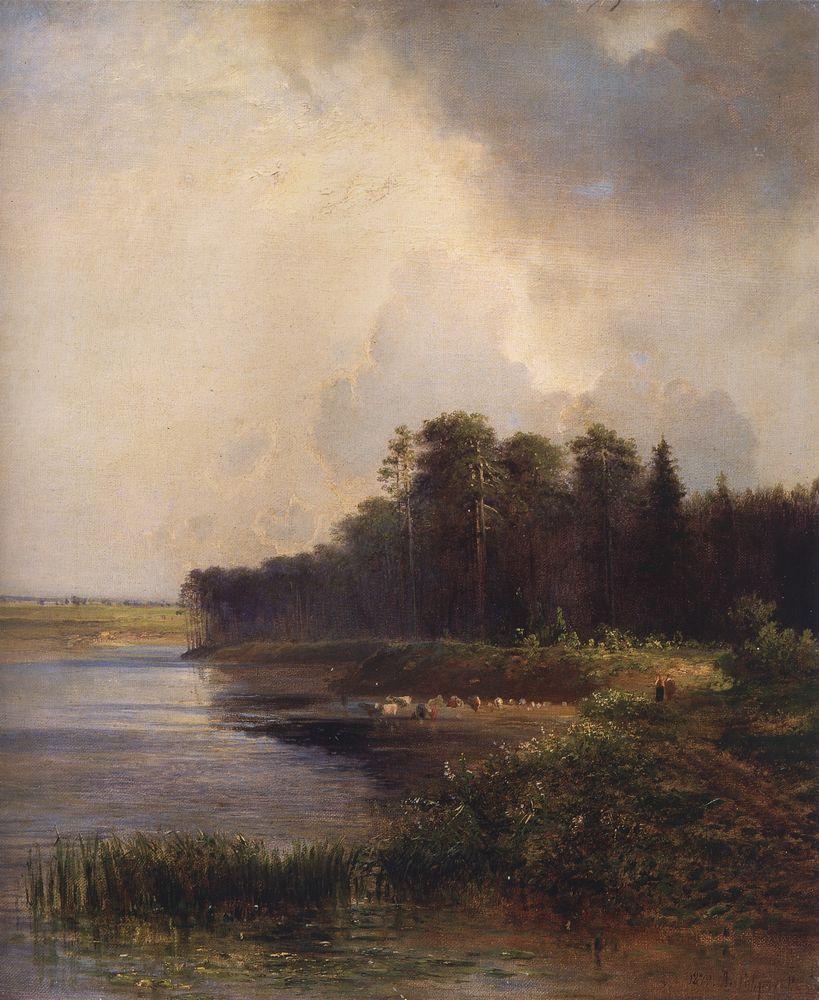 Берег реки — Саврасов Алексей Кондратьевич