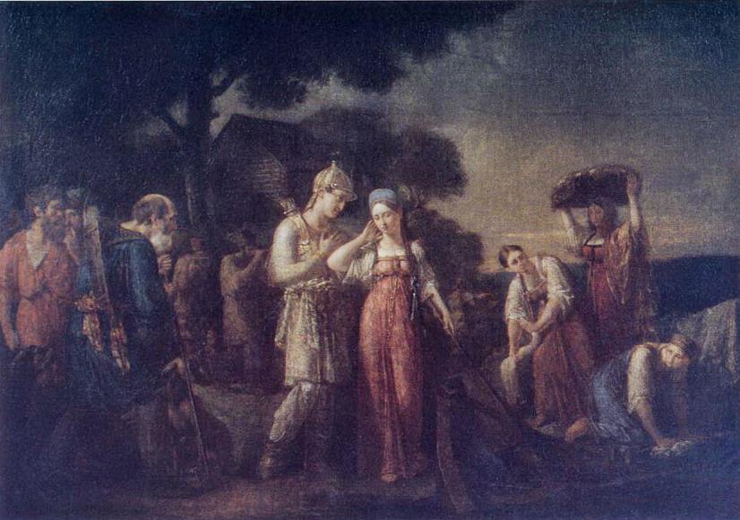 Первая встреча князя Игоря с Ольгой — Сазонов Василий Кондратьевич