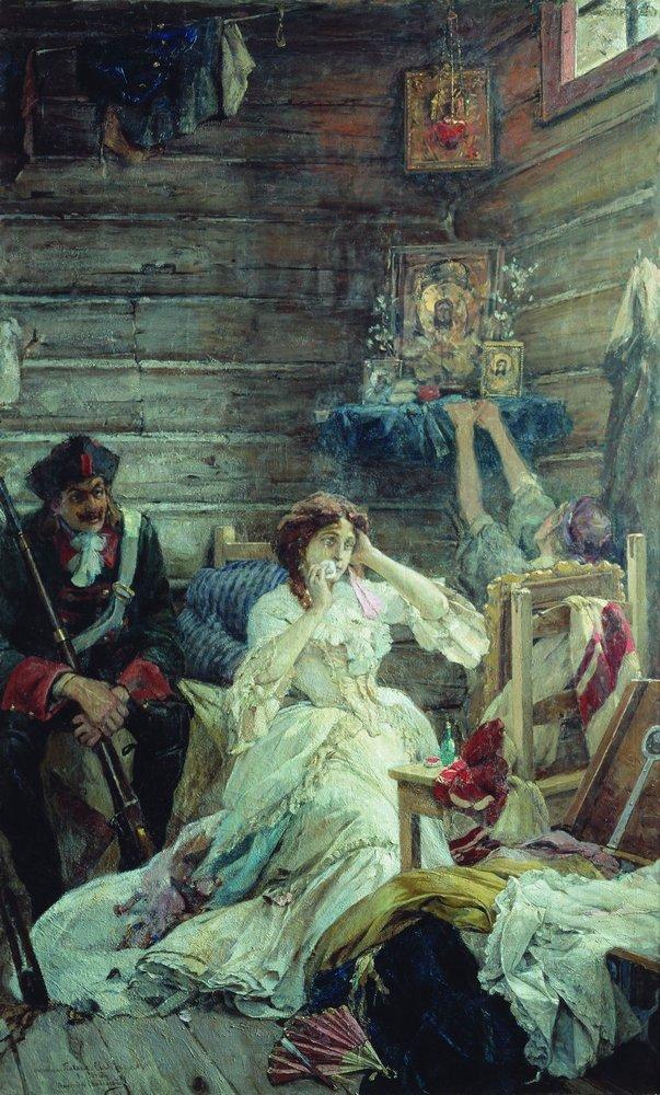 Мария Гамильтон перед казнью — Сведомский Павел Александрович