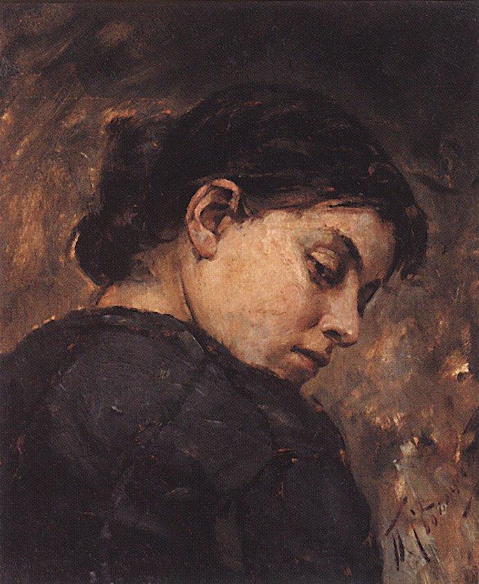 Молодая женщина, смотрящая через плечо — Сведомский Павел Александрович
