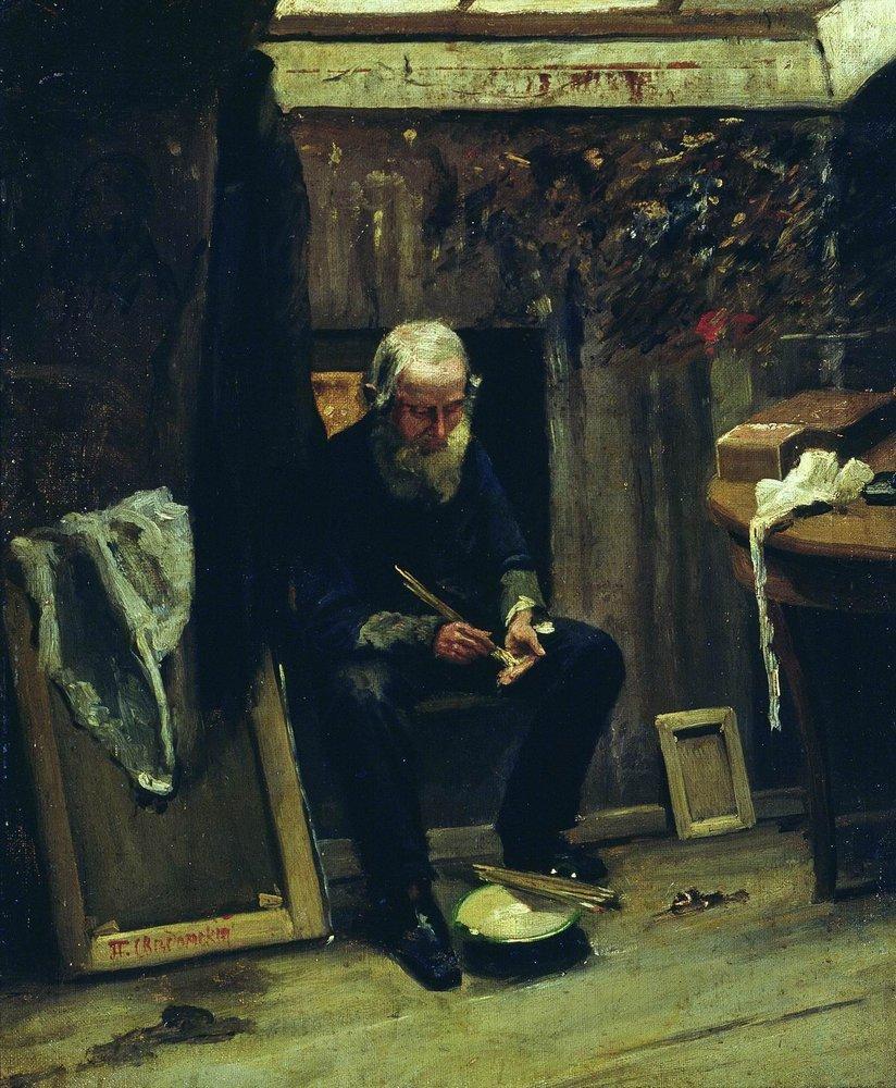 В мастерской художника — Сведомский Павел Александрович