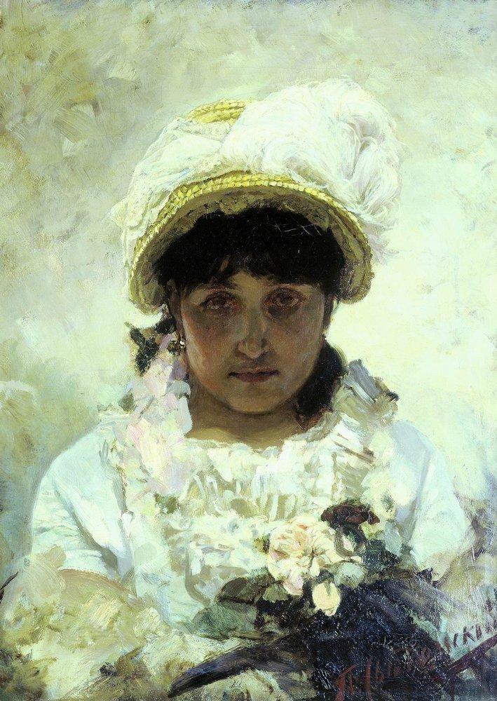 Девушка в соломенной шляпе — Сведомский Павел Александрович