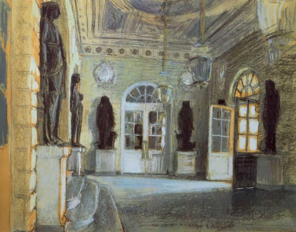 Вход в Павловский Дворец — Бенуа Александр Николаевич