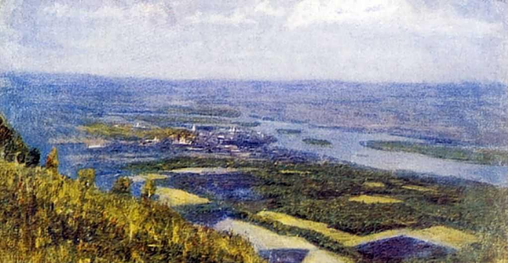 Вид на Красноярск с сопки — Суриков Василий Иванович