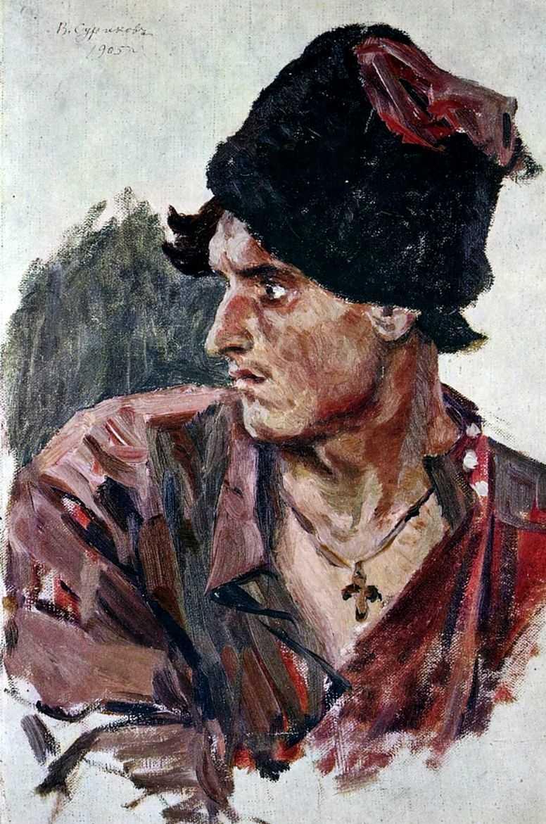 Голова молодого казака — Суриков Василий Иванович