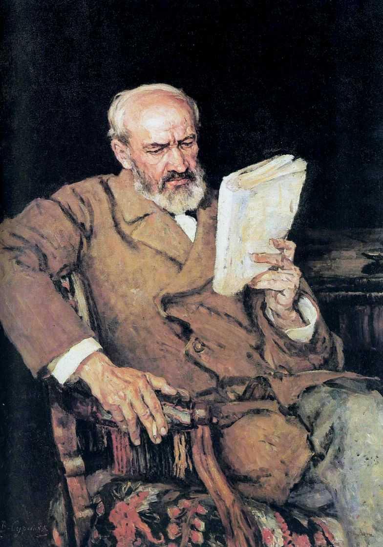 Портрет А.Д.Езерского — Суриков Василий Иванович