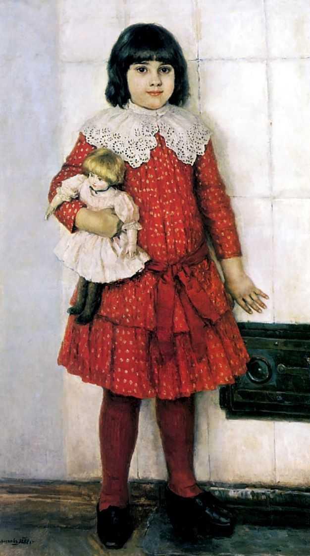 Портрет Ольги Васильевны Суриковой, дочери художника, в детстве — Суриков Василий Иванович