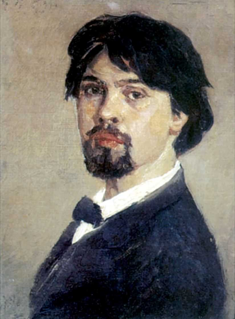 Автопортрет. 1876 — Суриков Василий Иванович
