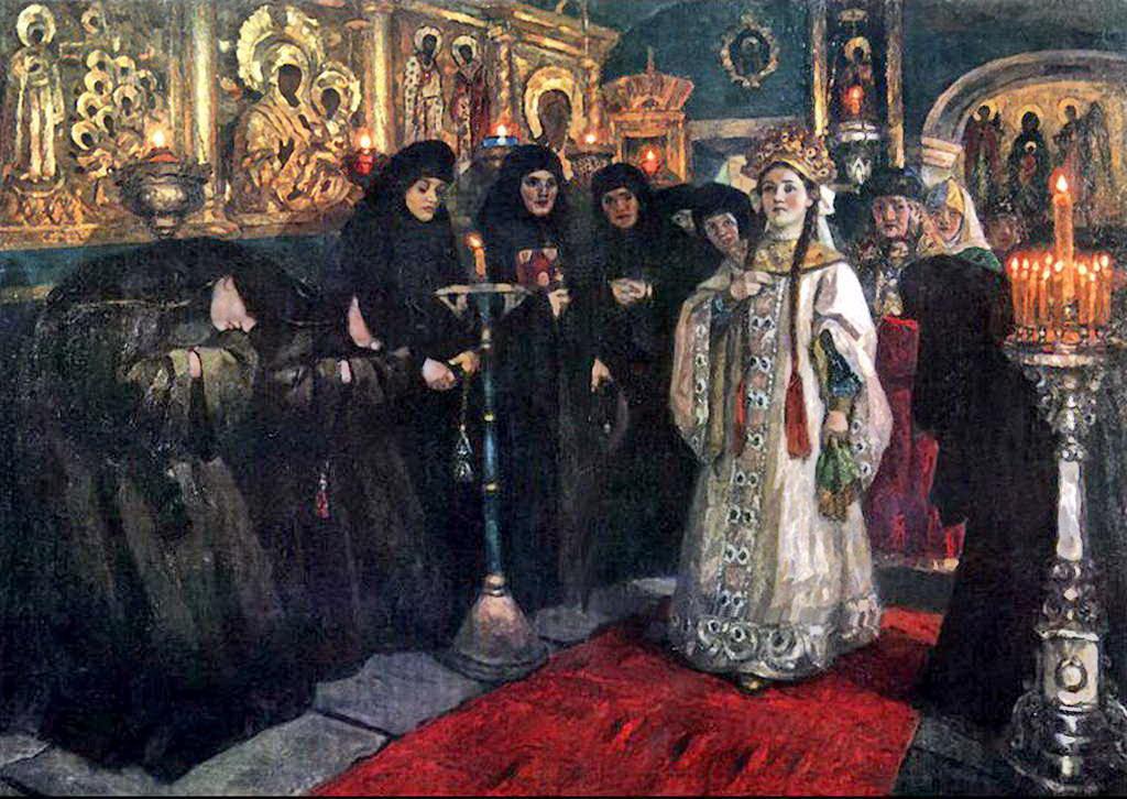 Посещение царевной женского монастыря — Суриков Василий Иванович