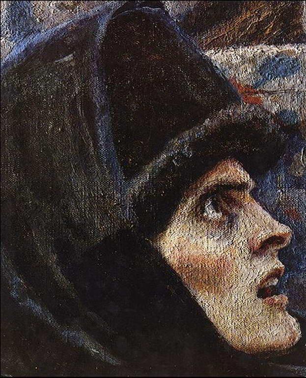Фрагмент картины «Боярыня Морозова». — Суриков Василий Иванович
