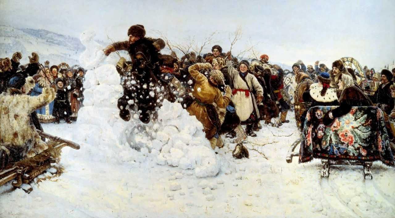 Взятие снежного городка — Суриков Василий Иванович