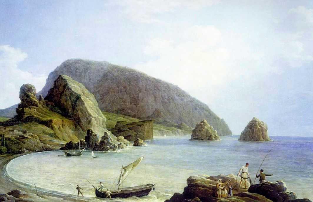 Вид на Аю-Даг в Крыму со стороны моря — Чернецовы Григорий и Никанор Григорьевичи