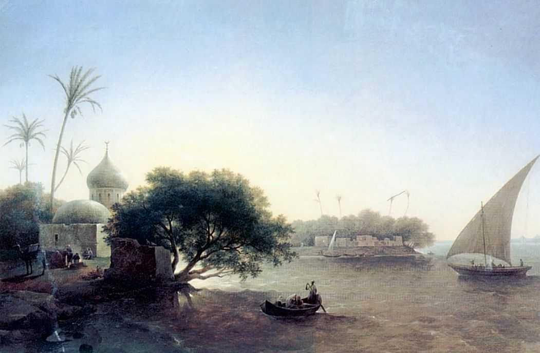 Вид на Нил в Египте — Чернецовы Григорий и Никанор Григорьевичи