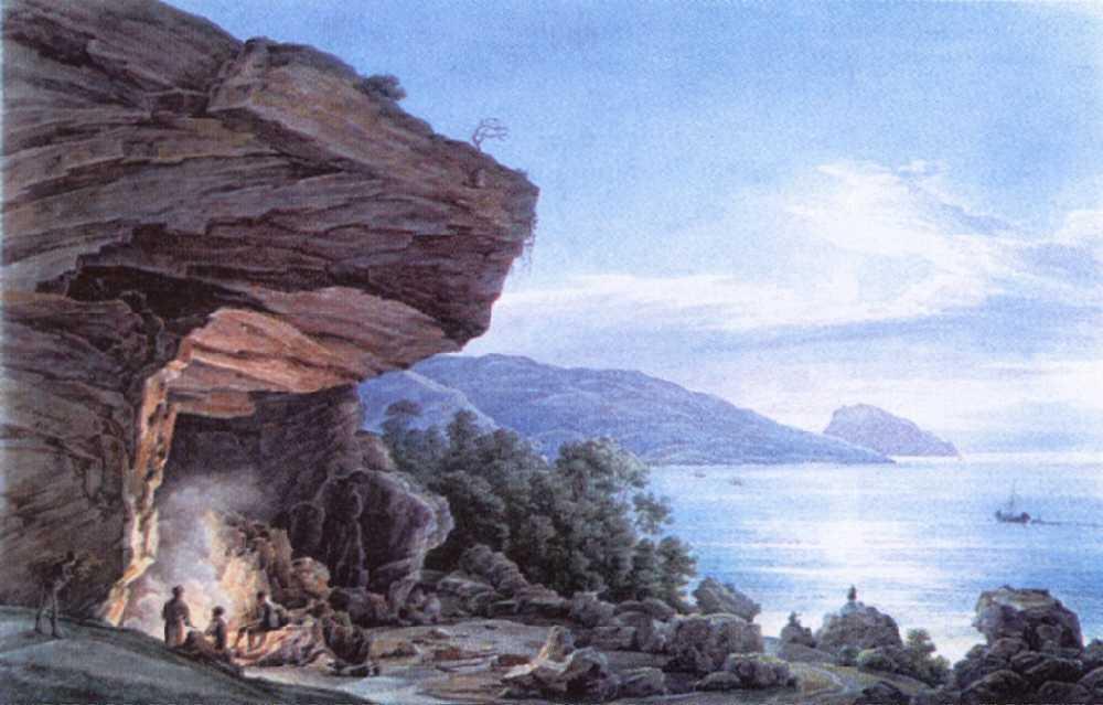 Крымское побережье лунной ночью — Чернецовы Григорий и Никанор Григорьевичи