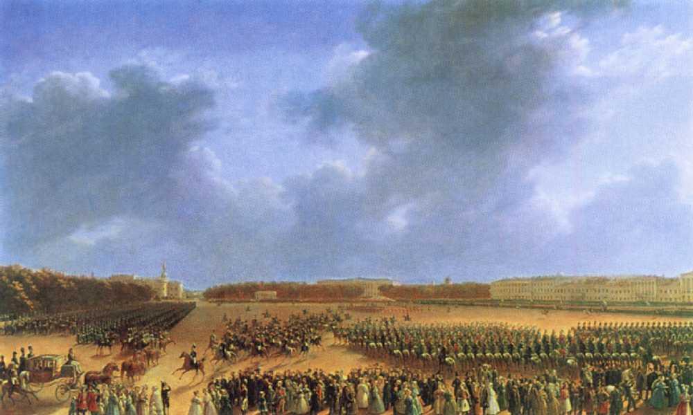Парад... 6 октября 1831 года на Царицыном лугу в Петербурге — Чернецовы Григорий и Никанор Григорьевичи