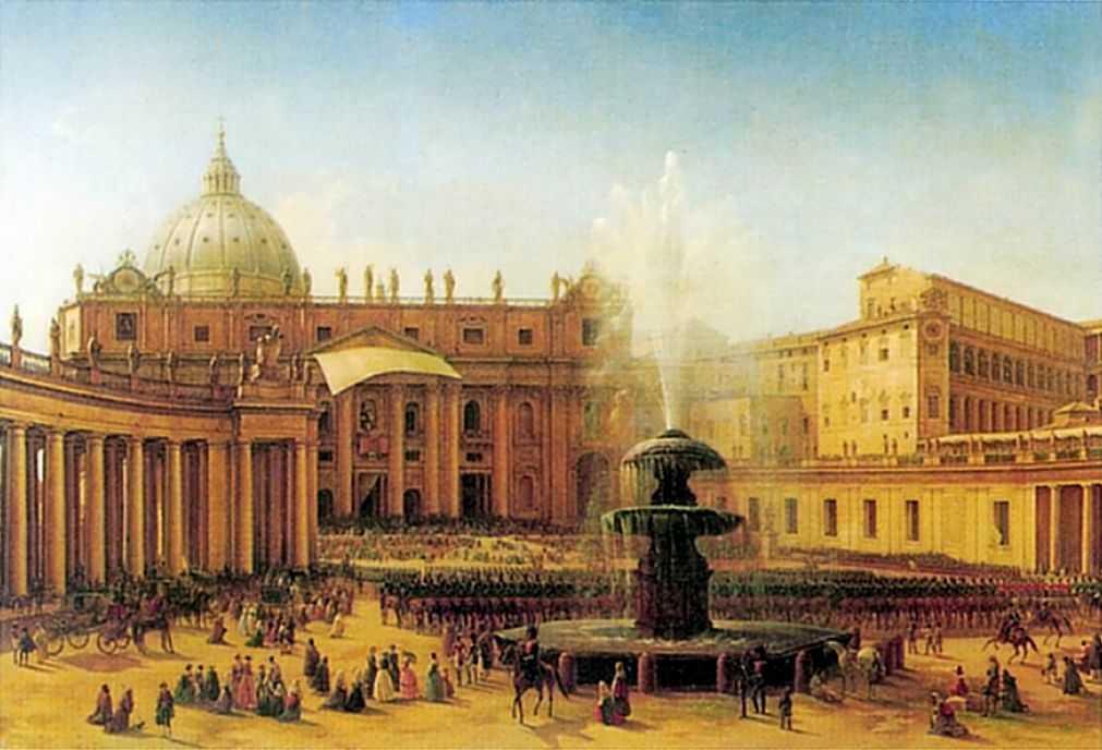 Площадь Святого Петра в Риме во время папского благословения — Чернецовы Григорий и Никанор Григорьевичи