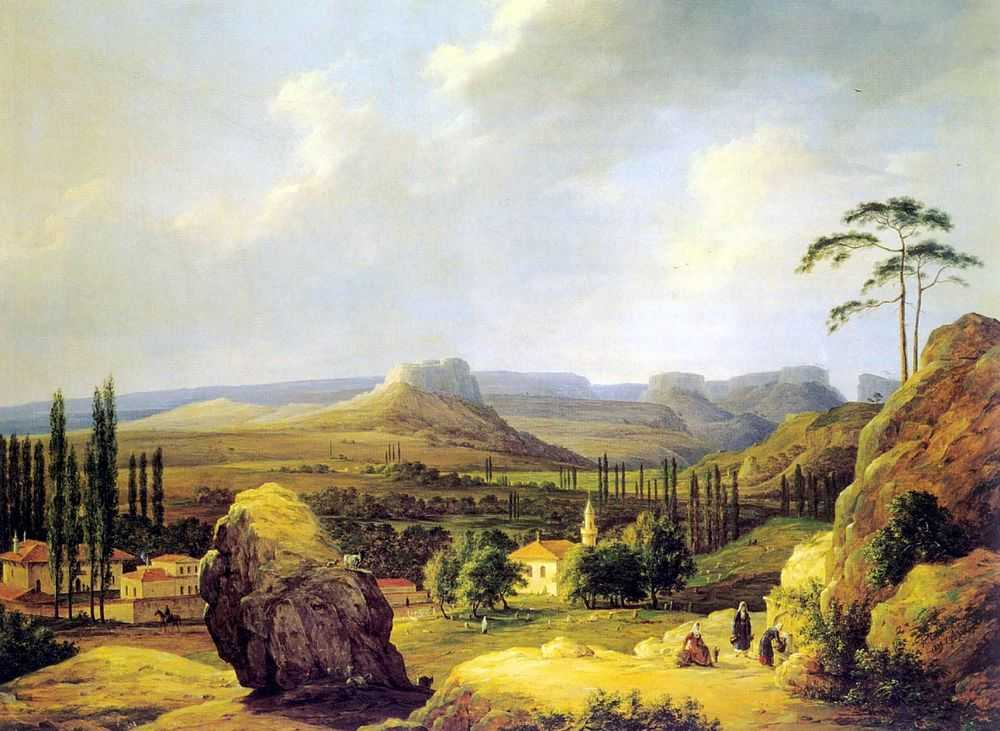 Вид Каралезской долины на южном берегу Крыма — Чернецовы Григорий и Никанор Григорьевичи