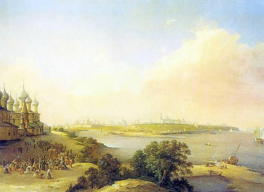 Вид города Ярославля — Чернецовы Григорий и Никанор Григорьевичи