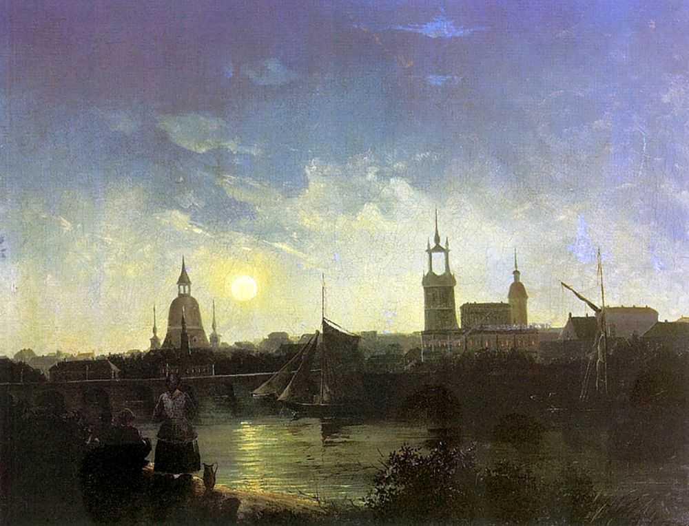 Вид города ночью — Чернецовы Григорий и Никанор Григорьевичи