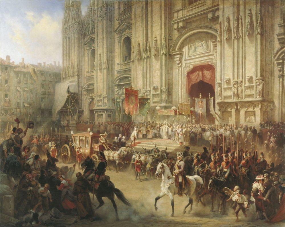 Торжественная встреча А.В.Суворова в Милане в апреле 1799 года — Шарлемань Адольф Иосифович