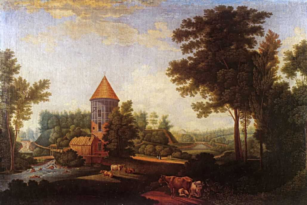 Мельница и башня Пиль в Павловске — Щедрин Семен Федорович