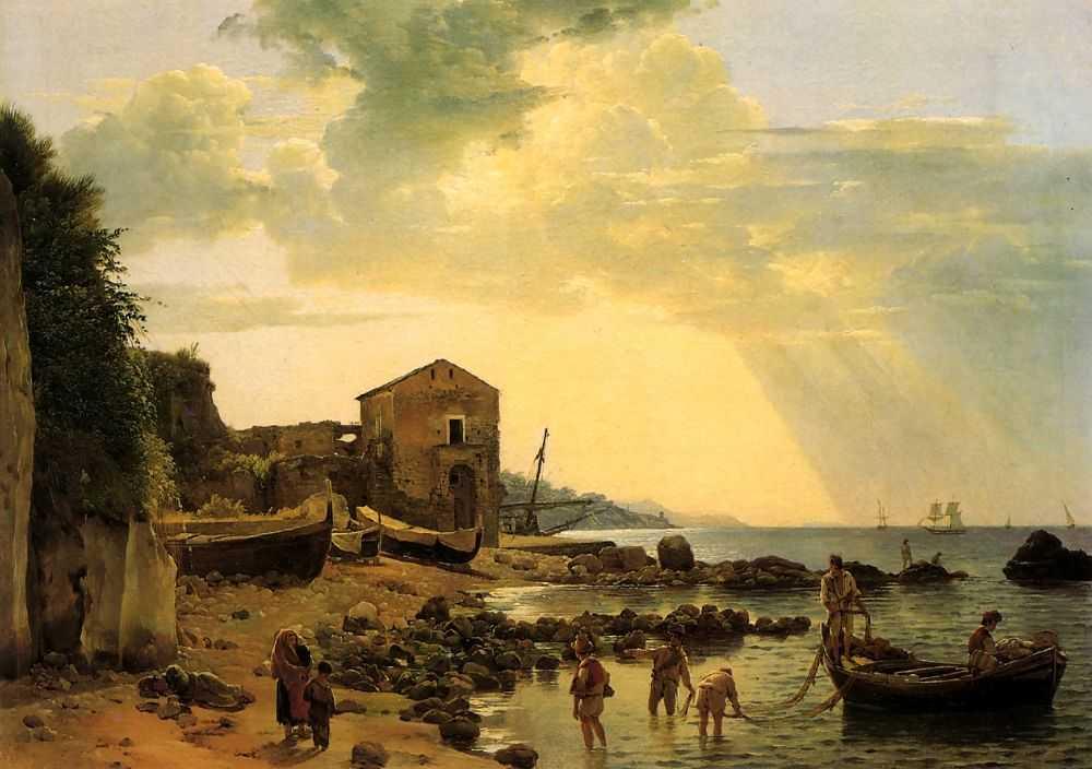 Берег в Сорренто с видом на остров Капри — Щедрин Семен Федорович