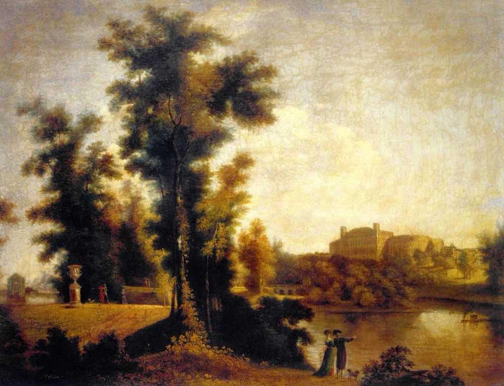 Вид на Гатчинский дворец с Длинного острова — Щедрин Семен Федорович