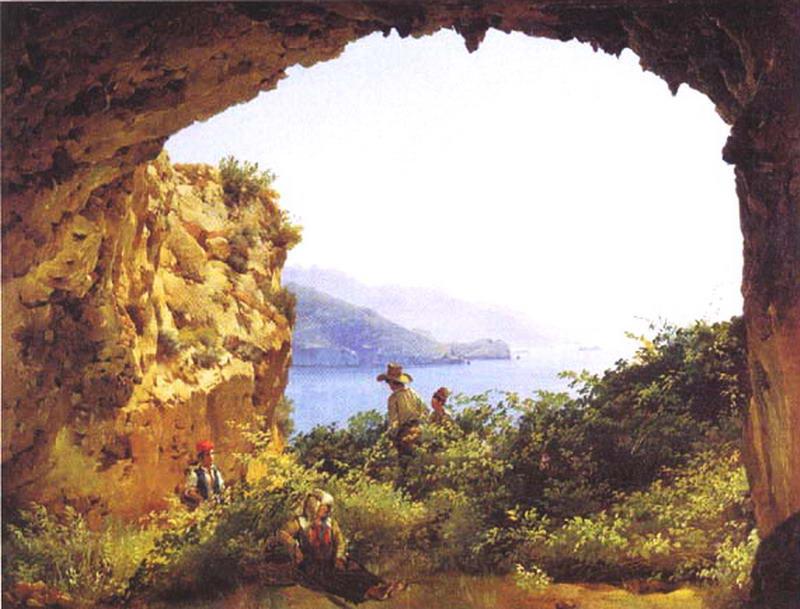Грот Матроманио на острове Капри — Щедрин Сильвестр Феодосиевич