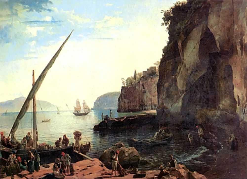 Малая гавань в Сорренто близ Неаполя — Щедрин Сильвестр Феодосиевич