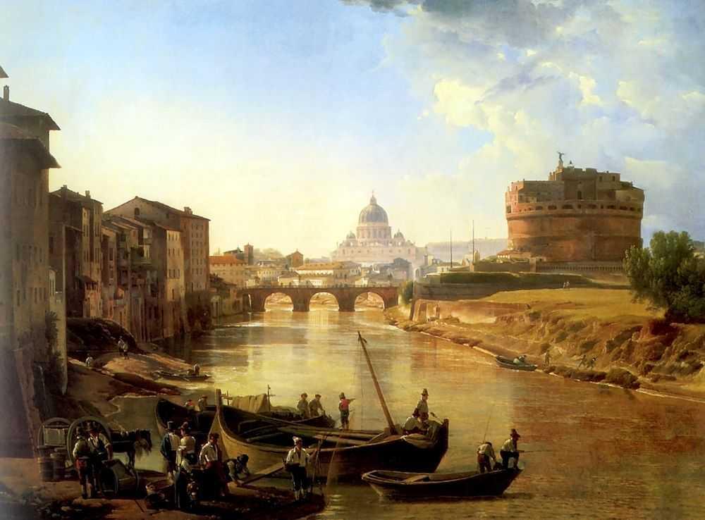 Новый Рим. Замок Святого Ангела — Щедрин Сильвестр Феодосиевич