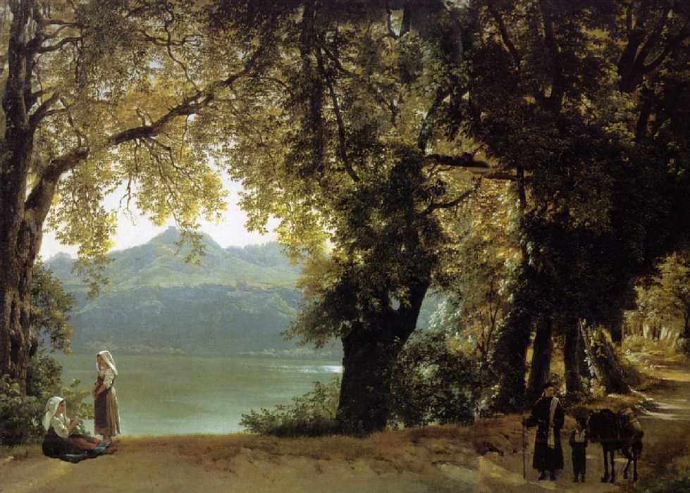 Озеро Альбано в окрестностях Рима — Щедрин Сильвестр Феодосиевич