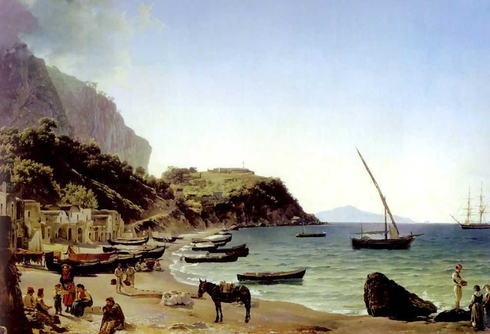 Большая гавань на острове Капри — Щедрин Сильвестр Феодосиевич