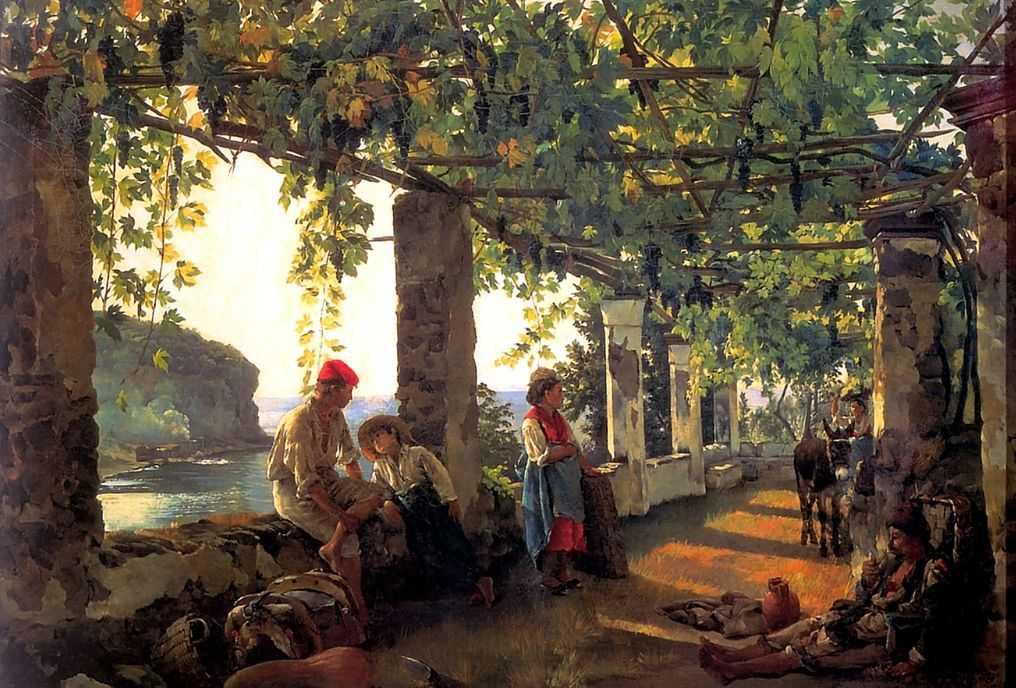 Веранда, обвитая виноградом — Щедрин Сильвестр Феодосиевич